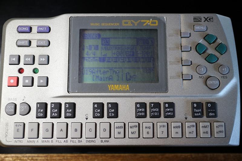 YAMAHA QY70 LCDユニット交換、保護シート貼り